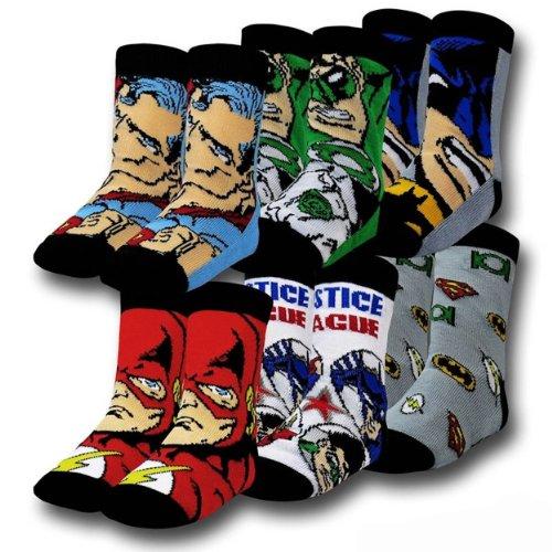 DC Comics Justice League 6 Pack Toddler Crew Socks (4T/5T)