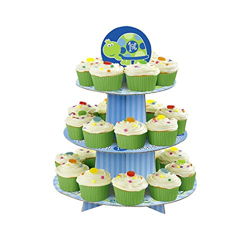 Unique Industries BB100384 First Birthday Turtle Cupcake Stand - 1
