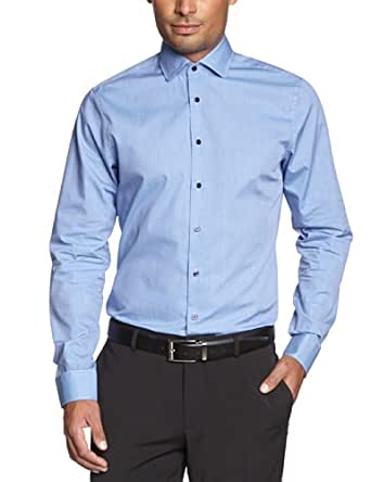 Schwarze Rose Herren Businesshemd Slim Fit 227355, Gr. 38, Blau (14 blau)