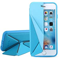 Q-YEE Iphone 6s case(4.7 inch)Protective Premium PU Leather Cover Case for iPhone cases,iphone 6 cases, the cover support mobile stand(blue)