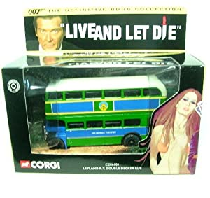 James Bond 007 Die-cast Ouble Deck Bus- From Live and Let Die- The Ulitmate...