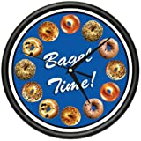 BAGEL Wall Clock shop store nyc hot fresh bagels sign
