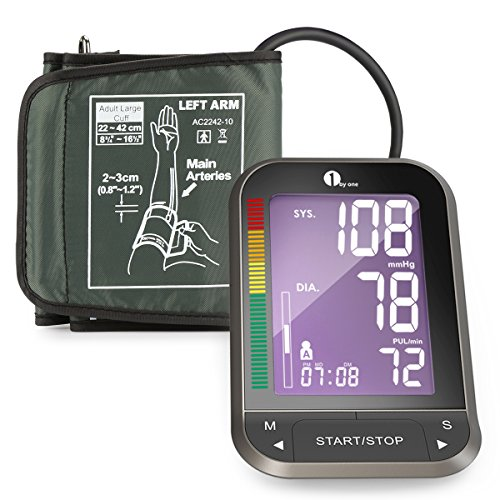 1byone-upper-arm-blood-pressure-monitor-blood-pressure-cuff-with-easy-to-read-backlit-lcd-one-size-f