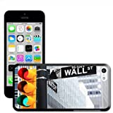 Fancy A Snuggle 'Wall Street Sign At Traffic Lights In New York' Hard Case Clip On Back Cover for Apple iPhone 5C