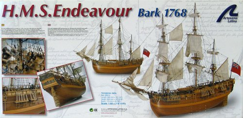 HMS Endeavor 1:60-Scale Wooden Ship Kit
