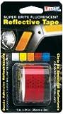 Incom RE183 1-Inch by 24-Inch Super Brite Fluorescent Reflective Tape, Red