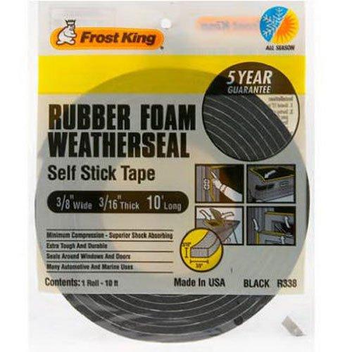 Frost King R338H Sponge Rubber Foam Tape 3/16-Inch, Black (Automotive Weatherstrip Tape compare prices)