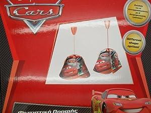 Disney Pixar Cars Lightning McQueen Bedroom Duo Shape Ceiling Roof Light Lamp