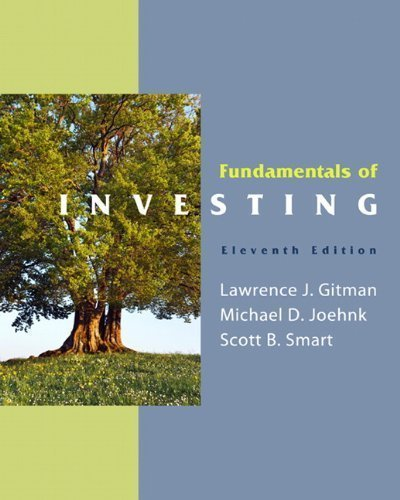 Fundamentals of Investing (11th Edition) 11th (eleventh) Edition