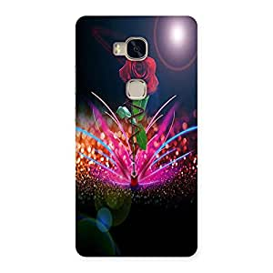 AjayEnterprises Beautifll Red Rose Back Case Cover for Huawei Honor 5X