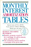 img - for Monthly Interest Amortization Tables: Covering Interest Rates of 5% to 2875%, Loan Amounts of $50 to 160,000, Terms up to 40 Years book / textbook / text book