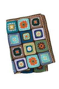 Lula La Baby Organic Handknit Crochet Blanket