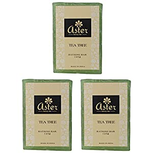 Aster Luxury Tea Tree Premium Handmade Bathing Bar - Set of 3 (125g each)