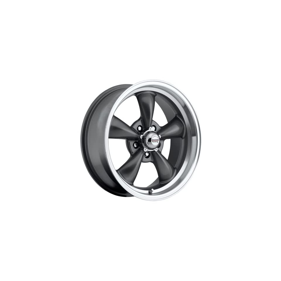 17 inch 17x8 100 S Classic Series Charcoal Gray aluminum wheels rims licensed from American Racing 5x4.75 Chevy lug pattern 0 offset 4.50 backspacing (set of four wheels)