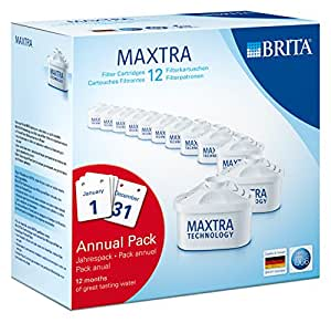 BRITA MAXTRA Water Filter Cartridges - 12 Pack