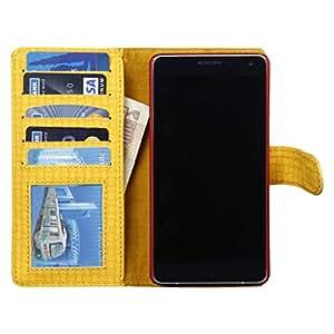 Dsas Artificial Leather Wallet Flip Cover designed for Microsoft Lumia 540 Dual SIM
