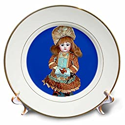 Collectible Dolls - Bru Antique Doll - 8 inch Porcelain Plate (cp_750_1)