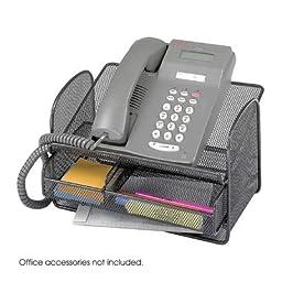 Onyx Mesh Telephone Stand in Black - Set of 5