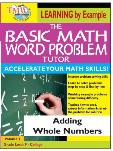 Basic Math Word Problem Tutor: Adding Whole Numbers