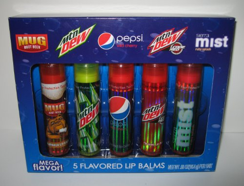 Pepsi Brands Flavored Lip Balm Gift Set - Mega Tubes 5 Pack