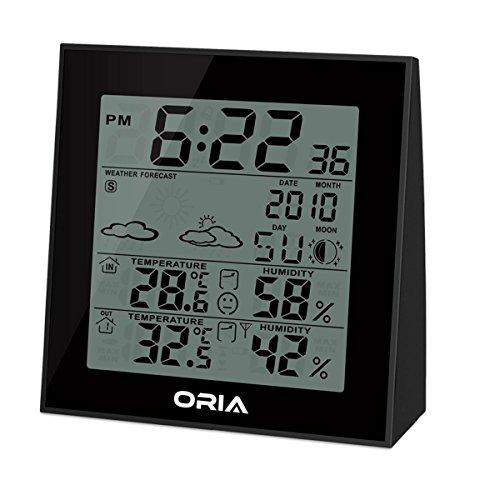 preisvergleich wetterstation innen au en oria temperatur feuchtigkeits monitor thermometer. Black Bedroom Furniture Sets. Home Design Ideas