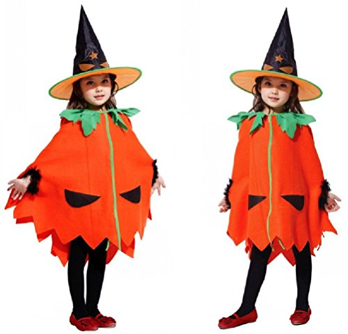 Purplebox Children Halloween Costumes Performance Clothing Children Pumpkin Cloak