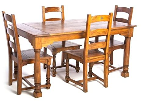 Ancient Mariner East Indies Dining Table and Four Dining Chairs
