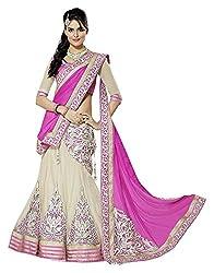 Devikrupa fashion Women's Georgette Unstitched Lehenga Choli (Pink)
