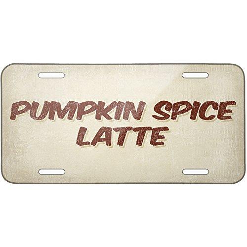 Metal License Plate Pumpkin Spice Latte Coffee, Vintage Style - Neonblond