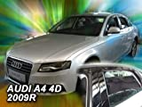 wind deflectors AUDI 4doors A4 2009 > Sedan 4parts   wind sedan deflectors AUDI 4parts 4doors 2009