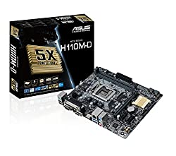 Asus H110M-D - 6th Generation DDR4 MotherBoard (LGA1151, DDR4 2133Mhz, Parallel + Com + VGA + HDMI Ports, MicroATX Board)