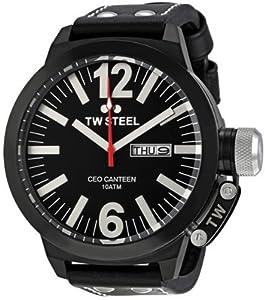 TW Steel CEO TWCE1032 - Reloj unisex de cuarzo, correa de piel color negro
