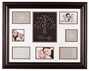 Gallery Solutions Bronze Family Tree Collage Frame, 18-Inch by 24-Inch