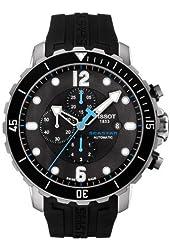 Tisso Seastar Black Dial Chronograph Automatic Men's Watch T0664271705702