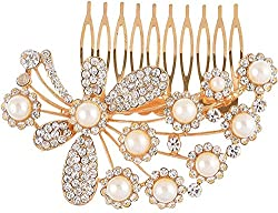 Dazzle Collections Women's Hair Clips (DC-HA-AC-10003-G, Golden)