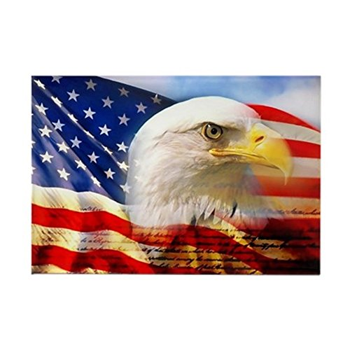 CafePress - American Eagle Flag - Rectangle Magnet, 2