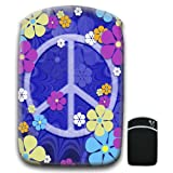 Hippy Flower Power with Peace Sign Groovy Sixties Vintage For Amazon Kindle Fire & Kindle 3G Keyboard Soft Protection Neoprene Case Cover Sleeve Bag With Pocket which is Ideal for Headphones, Data Cable etc