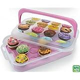 Haushaltsdose Muffinbox Cup-Cake-Box 7l für 14 Muffins mit Dekor