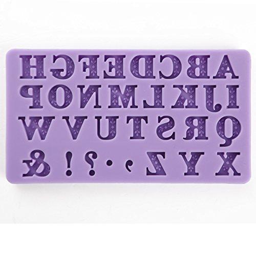moule silicone alphabet lettres #536 pr pâte à sucre amande chocolat savon fimo