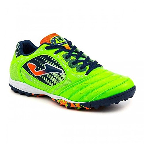 JOMA CALCETTO LIGA-5 AW 615 GREEN FLUOR-NAVY-ORANGE TURF 40.5