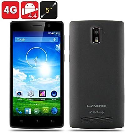 Landvo L200S - Smartphone 4G / Écran 5 pouces HD 1280x720 IPS / CPU Quad Core / 1Go de RAM / 8Go de mémoire / Android 4.4 / Noir