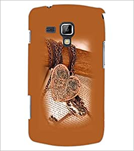 PrintDhaba Heart Pendant D-1209 Back Case Cover for SAMSUNG GALAXY S DUOS S7562 (Multi-Coloured)