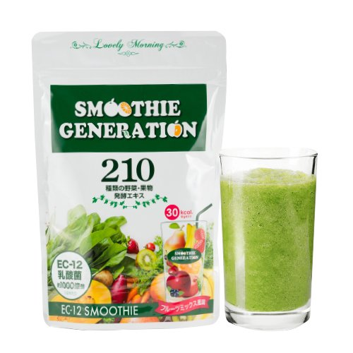 ECー12乳酸菌グリーンスムージー フルーツミックス風味 シェイカー付き 約1ヶ月分