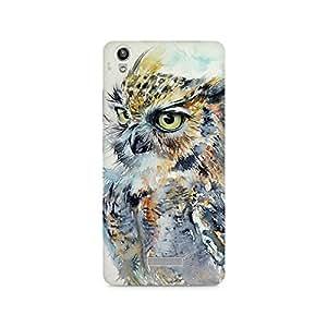 Mobicture Owl Premium Printed Case For Lava Pixel V1
