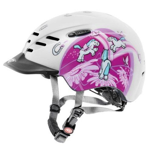 Uvex Reithelm Supersonic Ponies pink matt