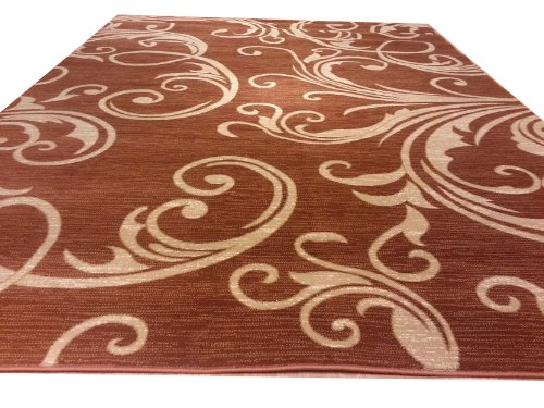 Contempora ry Modern Transition al Abstract Terracotta 8x10 8ft 10ft Rug Carpet Mat Actual Size 7'9