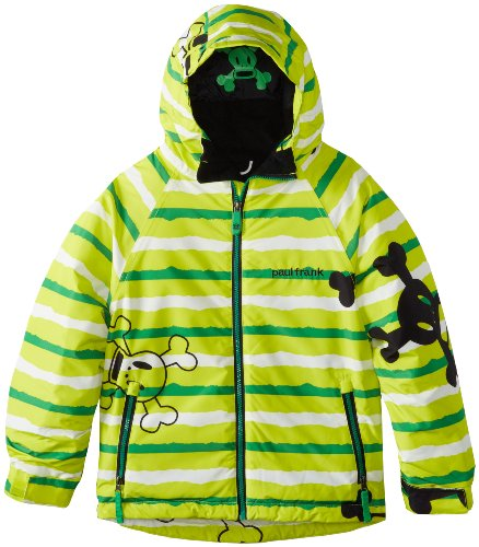Paul Frank Boy's Skurvy Rip Stripe Jacket, Acid, Large