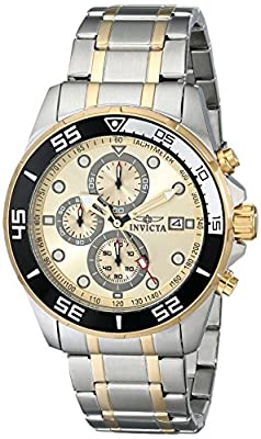 Invicta Men's 17014SYB Specialty Analog Display Japanese Quartz Two Tone Watch