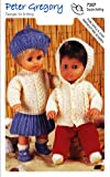 Peter Gregory Double Knitting DK Pattern for Dolls Premature Baby Outfits 7207