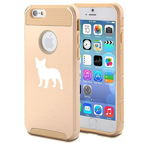 Apple iPhone 5 5s Shockproof Impact Hard Case Cover French Bulldog (Gold) (Bulldog Iphone 5s compare prices)